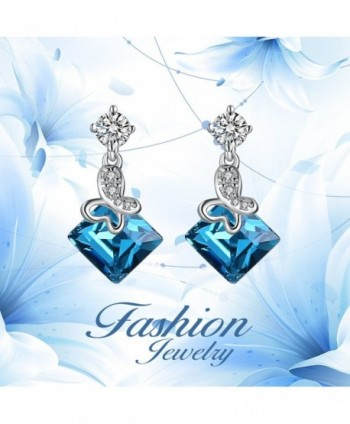 Crystal Dangle Earrings Sterling Earring