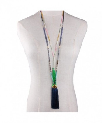 KELITCH Turquoise Crystal Necklace Layering in Women's Pendants
