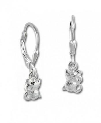925 Sterling Silver dangle earring little mouse- Teenie-Weenie- 925 Sterling Silver SDO585J - CU11LCW9NNR