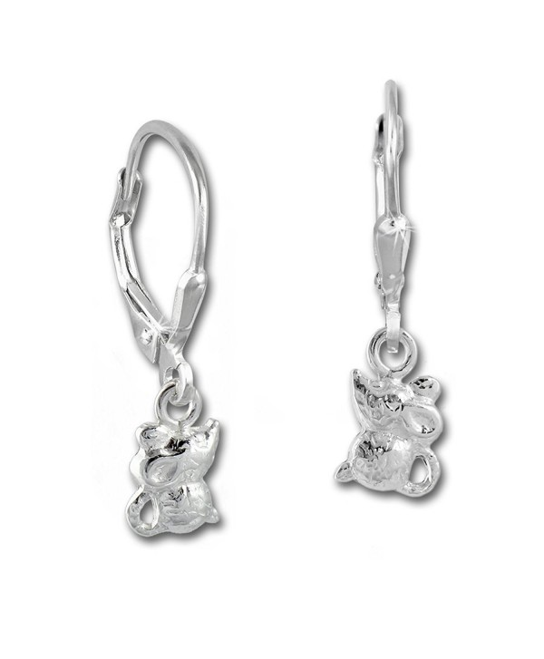 925 Sterling Silver dangle earring little mouse- Teenie-Weenie- 925 Sterling Silver SDO585J - CU11LCW9NNR