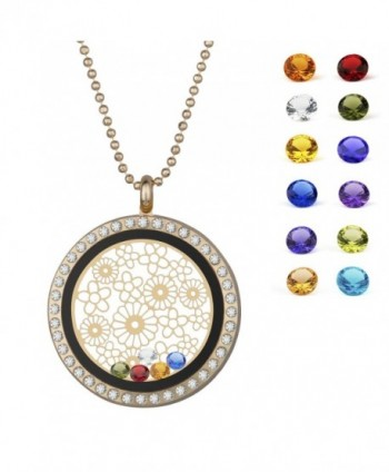 Nmoder magnetic floating necklace birthstone - CP185K8GN9D