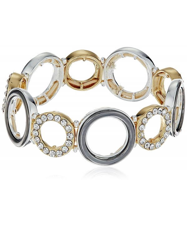 "Nine West ""Ring Around"" Stretch Bracelet - Tri-tone - C912J0OI2RL"