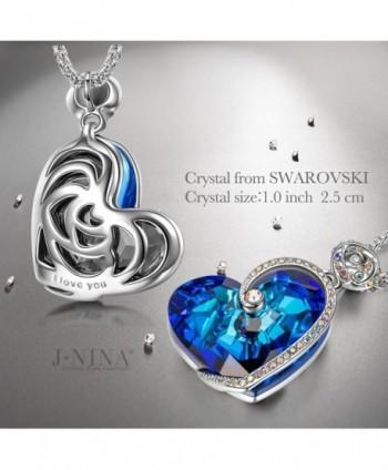 J NINA Sapphire Necklace Swarovski anniversary