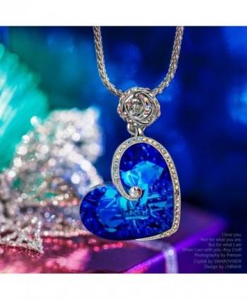 J NINA Sapphire Necklace Swarovski anniversary in Women's Pendants