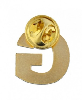 PinMarts Plated Alphabet Letter Lapel in Women's Brooches & Pins