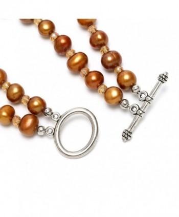 Aobei Freshwater Cultured Bracelet Wristband in Women's Strand Bracelets