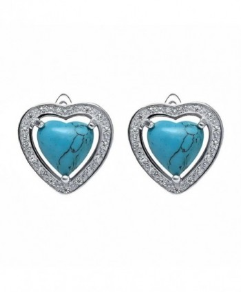 Beautiful Sterling Simulated Turquoise Earrings