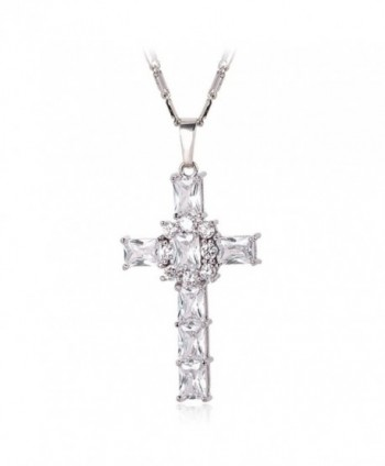 Zirconia Necklace Platinum Crystal White Platinum - White-Platinum - CJ129WJ0F4R