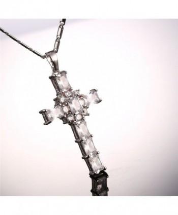 Zirconia Necklace Platinum Crystal White Platinum