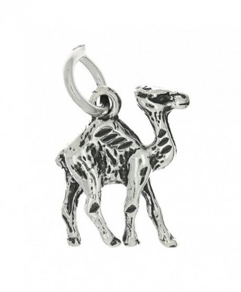 Sterling Silver Oxidized Double Sided Camel Charm - CA115VJ3UX1
