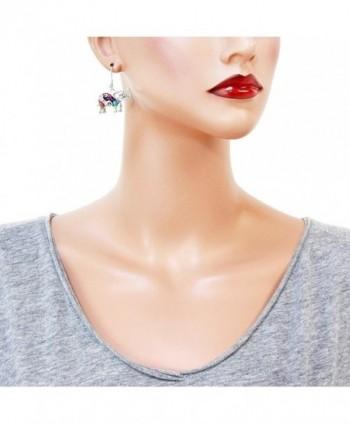 Liavys Multi Color Elephant Fashionable Earrings