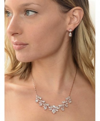 Mariell Multi Shaped Marquise Zirconia Necklace