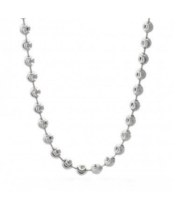 DIAMOND Beaded Necklace Italian Sterling - CR11H1KM3SB