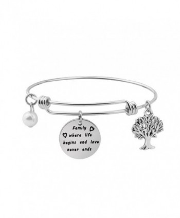 Gzrlyf Family Tree Bracelet Family Where Life Begins And Love Never Ends Bracelet Jewelry for Mom - CS187DSDMNT