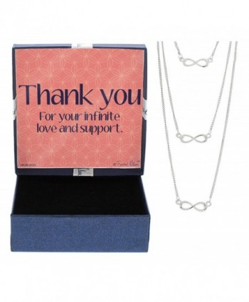 Thank You Gift Jewelry Silver-Tone Multi Layer Infinity Necklace Thank You for Your Infinite Love and Support - CT12NGY0P9O
