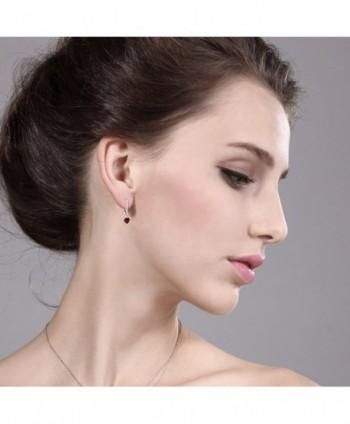 Heart Garnet Sterling Silver Earrings