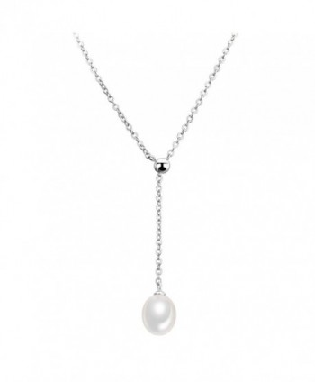 CIShop Silver Freshwater Necklace Choker - White Gold-M - C012O6IC0PB