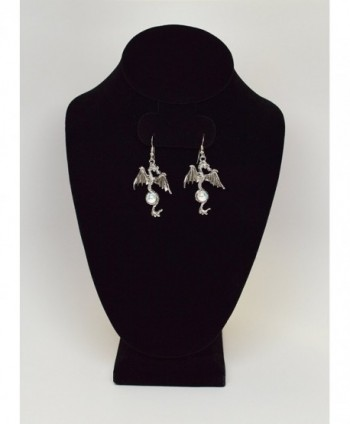 Gothic Dragon Earrings Mystical Jewelry