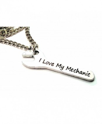 "ChubbyChicoCharms I Love My Mechanic On Wrench Single Charm 18"" Necklace - CX11BL46RRL"