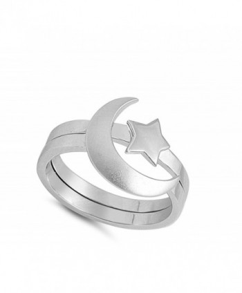 Unique Moon Sterling Silver Polished