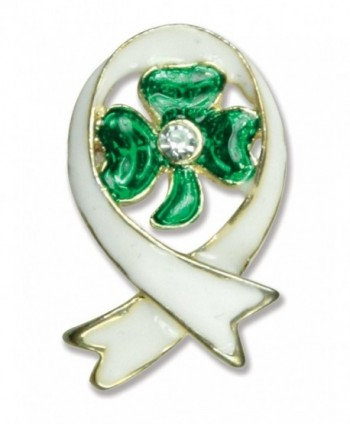 Irish Gifts - Irish Shamrock Pin - Sympathy Brooch - In Loving Memory Jewelry - CT115M6HSXB