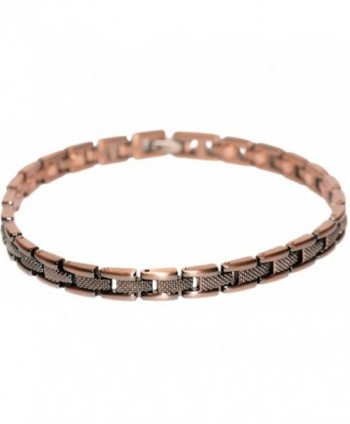 Copper Plated Fine Line - Magnetic Therapy Bracelet - C21194VVUBB