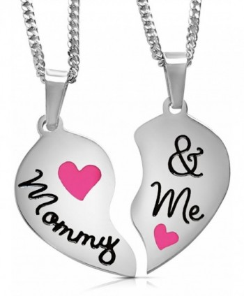 Stainless Engraved Necklaces Daughter Valentines - Pink - CW12IJZ5RY3