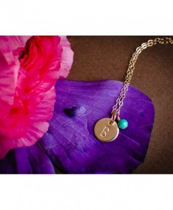 Initial Necklace Filled Personalized Custom