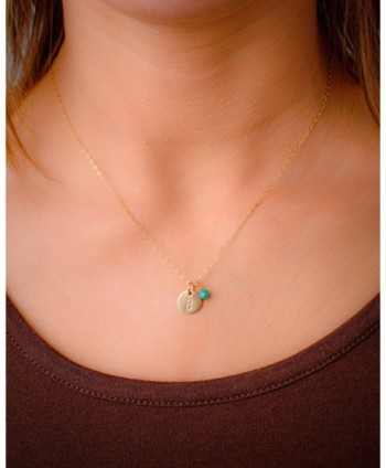 Initial Necklace Filled Personalized Custom in Women's Chain Necklaces