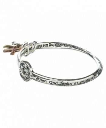 Mothers Prayer Bangle Bracelet Charms in Women's Bangle Bracelets