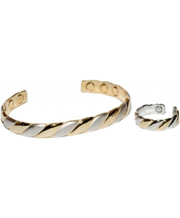 Paris - Magnetic Therapy Cuff and Ring Set - CR1104MYGCT