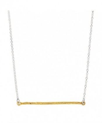 """Silpada 'Underlined' Sterling Silver and Brass Necklace- 29+2"""" Extender - CU12NYHQ3F1"""