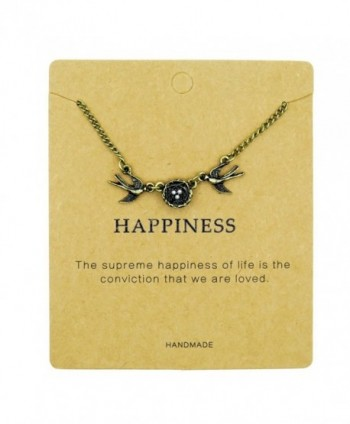 Fun Daisy Retro Swallows Nest Pendant Love Fmaily Happiness Necklace - C4129MY5R2H