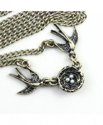 Swallows Pendant Fmaily Happiness Necklace in Women's Chain Necklaces