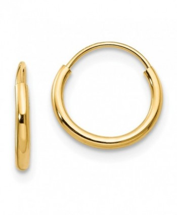 Madi K 14K Yellow Gold Endless Hoop Earrings (Approximate Measurements 8mm x 8mm) - C411DQUDS75