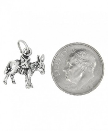 Sterling Silver Oxidized Dimensional Donkey
