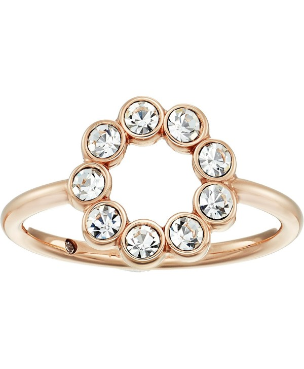 Fossil Womens Narrow Cocktail Ring with Glitz - Rose Gold - CX186SG2H8W