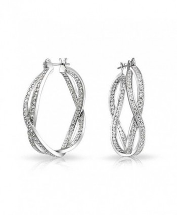 Bling Jewelry Infinity Earrings Rhodium