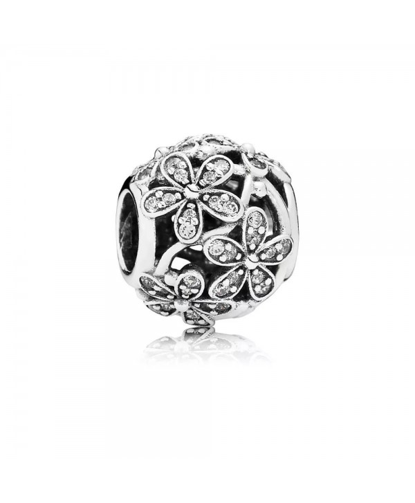 Angelbeads Dazzling Daisy Meadow Clear CZ Fits Bracelet 925 Sterling Silver Charms - C512LKEQ48N