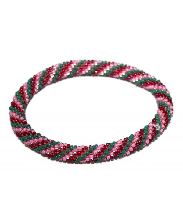 Crochet Glass Seed Bead Bracelet Roll on Bracelet Nepal Bracelet SB499 - CQ1290XXI5N