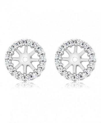 925 Sterling Silver Women's Earring Jackets for 7.00MM Round Shape Studs - C111MMEEWTJ