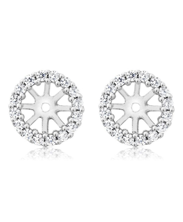 925 Sterling Silver Women's Earring Jackets for 7.00MM Round Shape Studs - C111MMEEWTJ