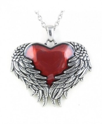 "Controse Women's Silver-Toned Stainless Steel Guarded Heart Necklace 28"" - CG12GK5DM8R"