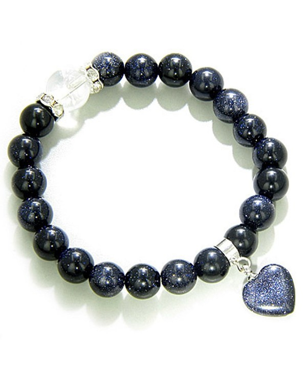 Cute Crystals and Blue Goldstone Good Luck Talisman Bracelet - CG113HFCPR3