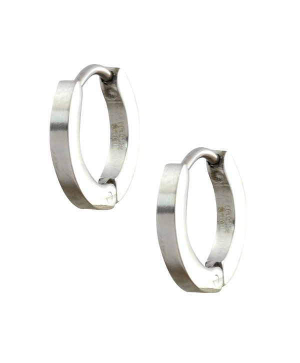 INOX 316L Stainless Steel Huggie Hoop Earrings - C911L3HPBTB