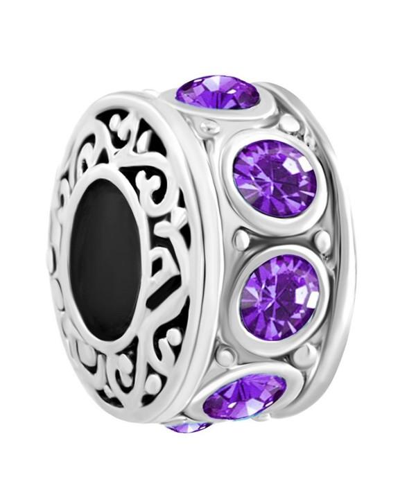 LovelyCharms Charm Beads For Bracelets - February - C917YIZZ50S