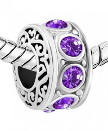 LovelyCharms Birthstone Charm Beads Bracelets