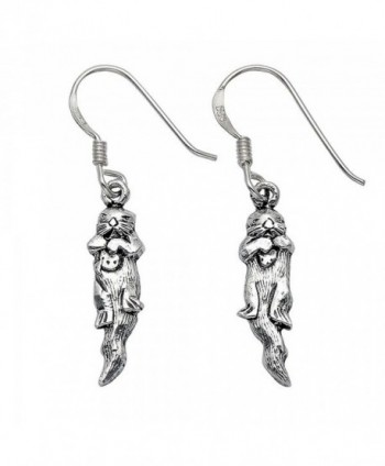 Sterling Silver Sea Otter Wire Earrings - CT11PZTC6A9