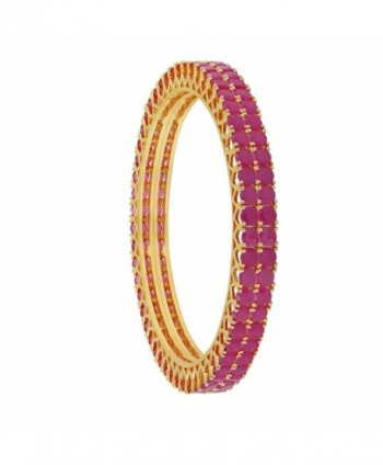 Ratnavali Jewels CZ Zirconia Gold Tone Bollywood Indian Bangles Jewelry Women - C2188IZAZ8X