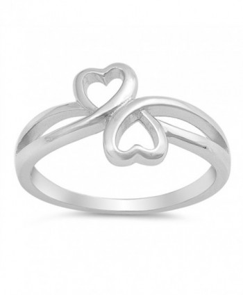 Infinity Heart Friendship Promise Ring New .925 Sterling Silver Band Sizes 4-10 - C2184Y7Q4EW